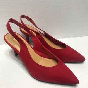 BAMBOO RED POINTY TOE